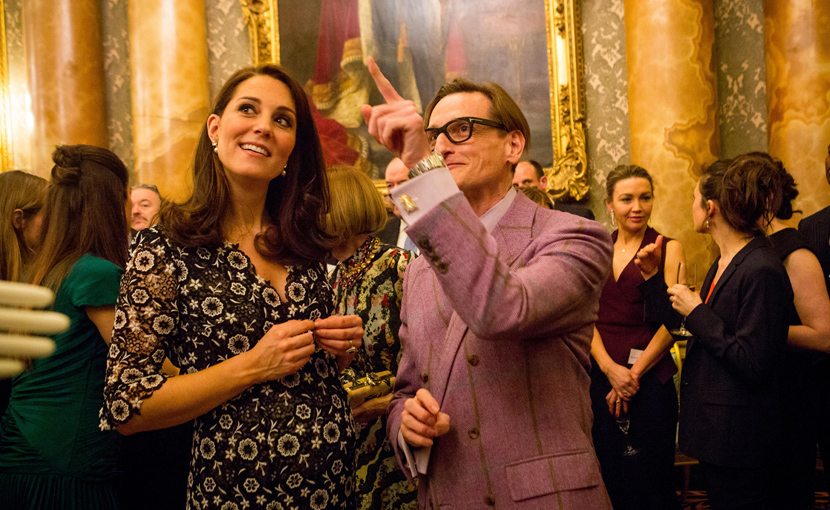 Hammish Bowles and The Dutchess of Cambridge