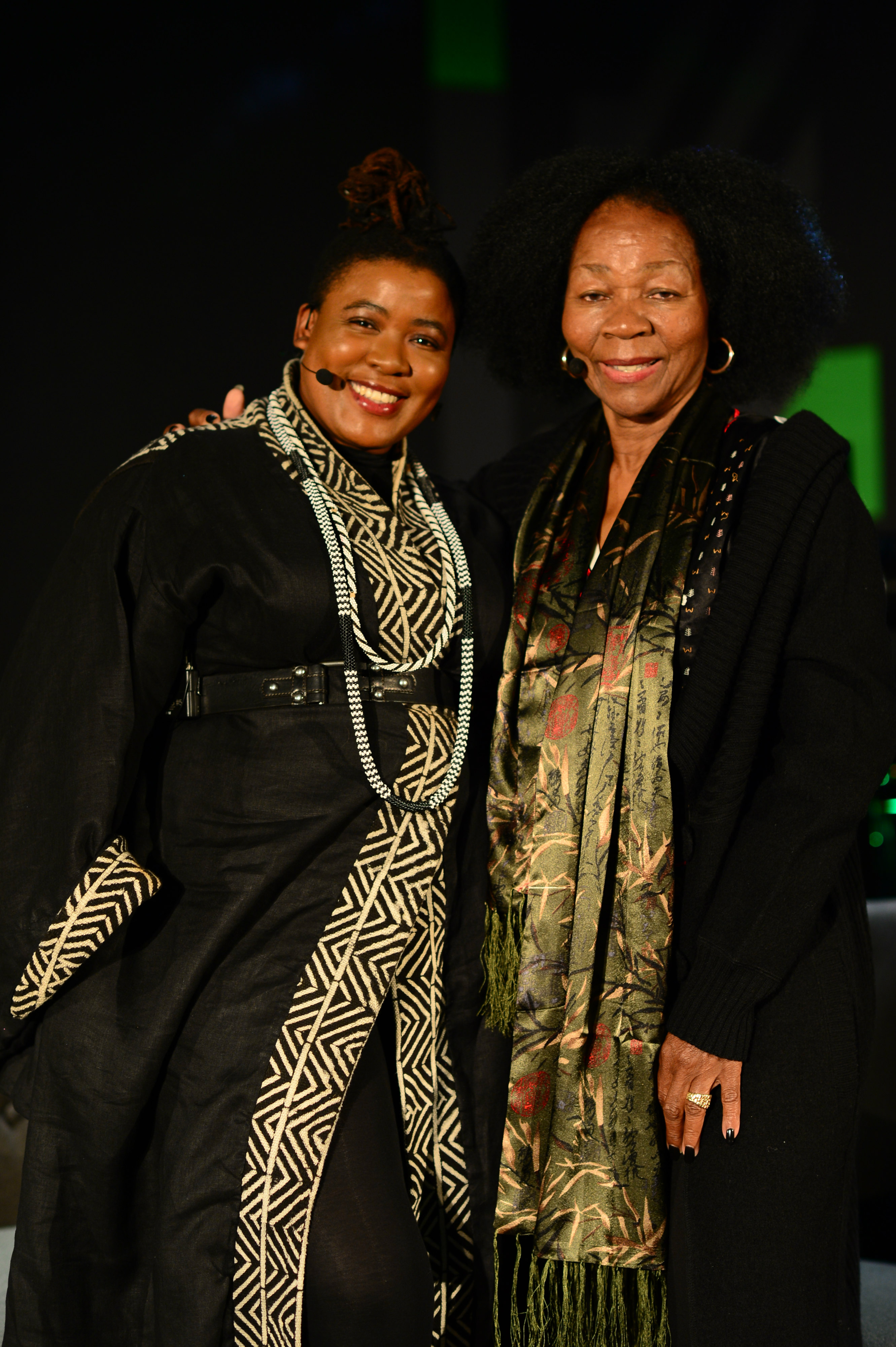 Thandiswa Mazwai and Letta Mbulu after the AMPD Icons conversation